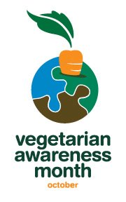 Vegetarian Awarenwess Month Logo