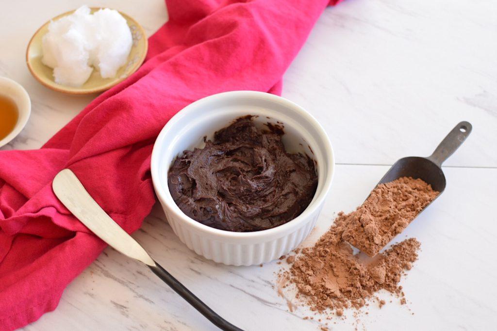 3 ingredient Vegan Chocolate Frosting Recipe