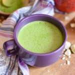 vegan maple matcha latte