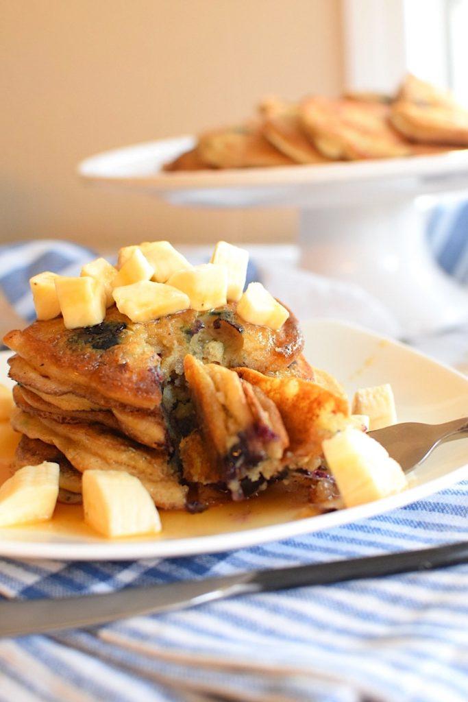 vegan-gluten-free-banana-blueberry-pancakes