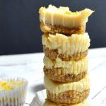 vegan lemon white chocolate cheesecake bites