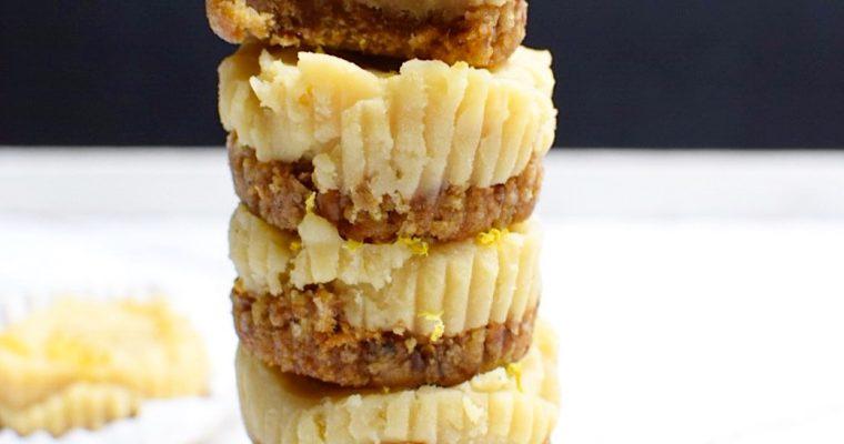 Vegan Lemon, White Chocolate Cheesecake Bites