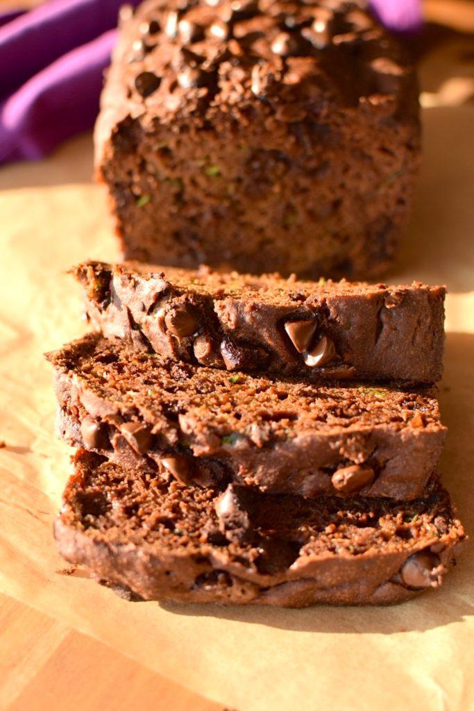 gluten free chocolate chip zucchini bread