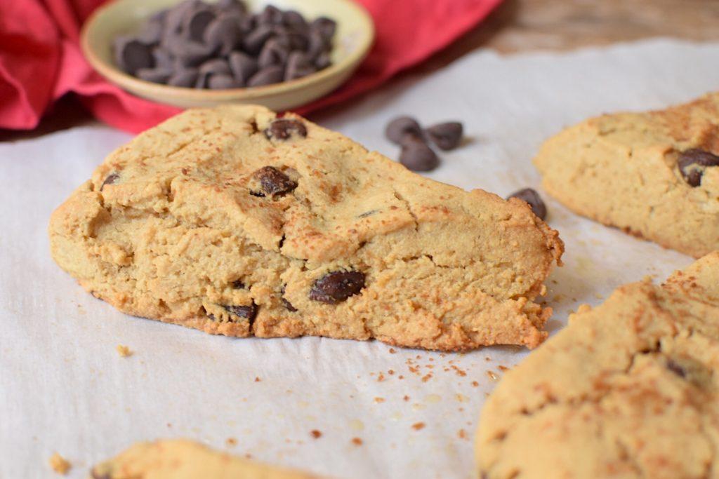 Paleo, Sugar-Free Chocolate Chip Scones - Anti Candida
