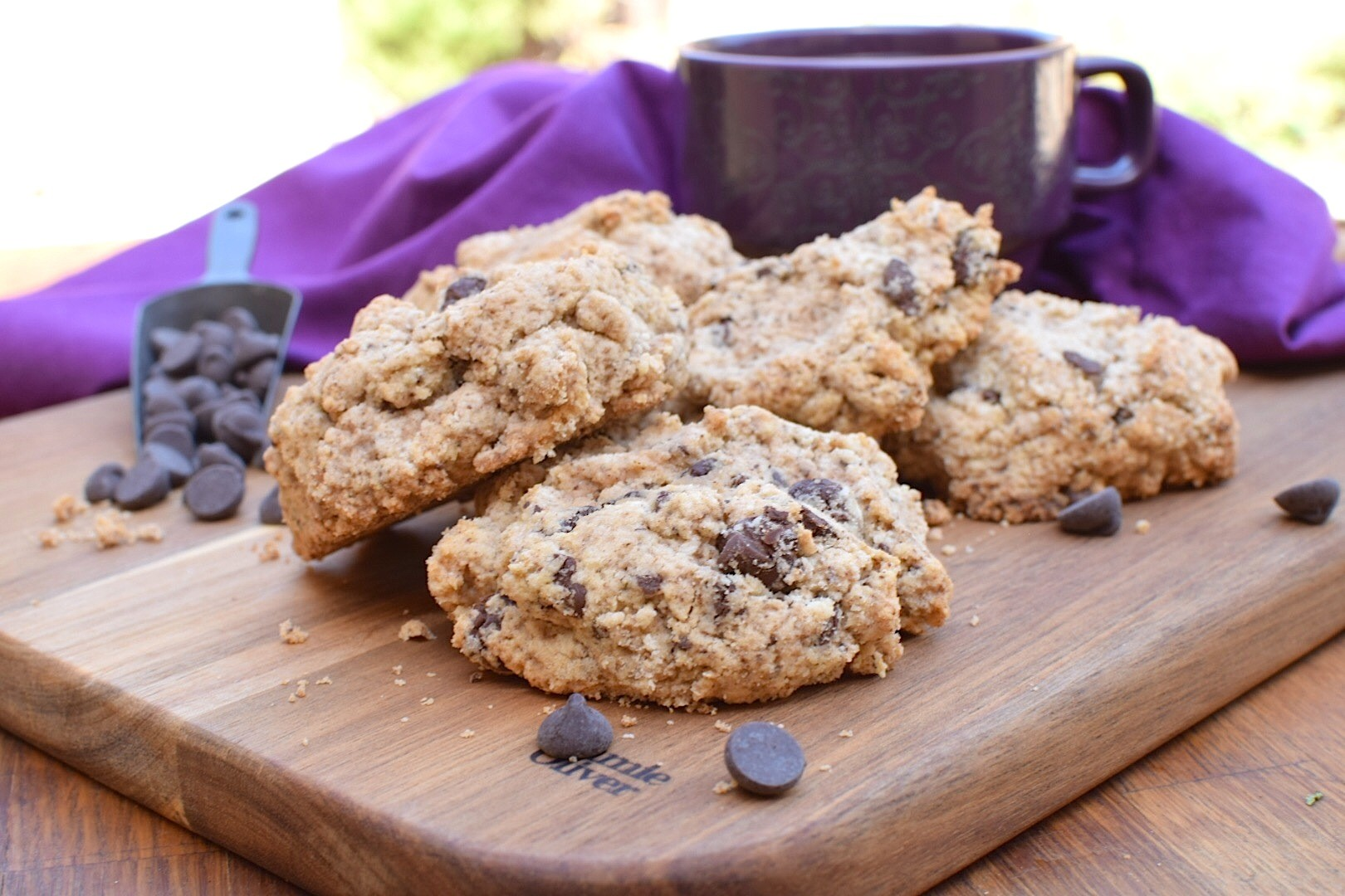 Paleo, Sugar-Free Chocolate Chip Scones – Anti-Candida