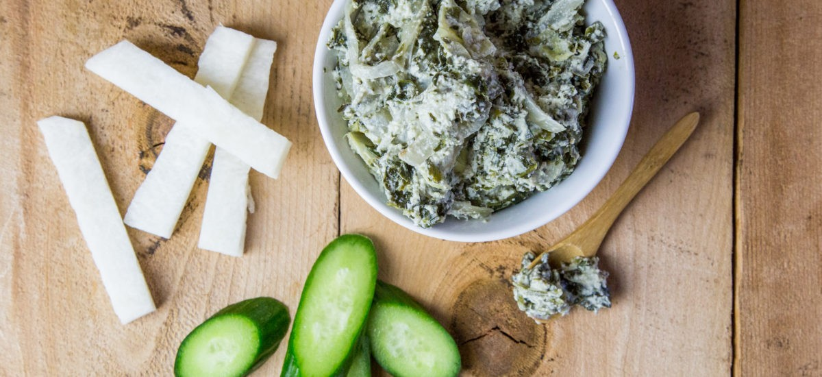 Healthy Vegan Spinach and Artichoke Dip