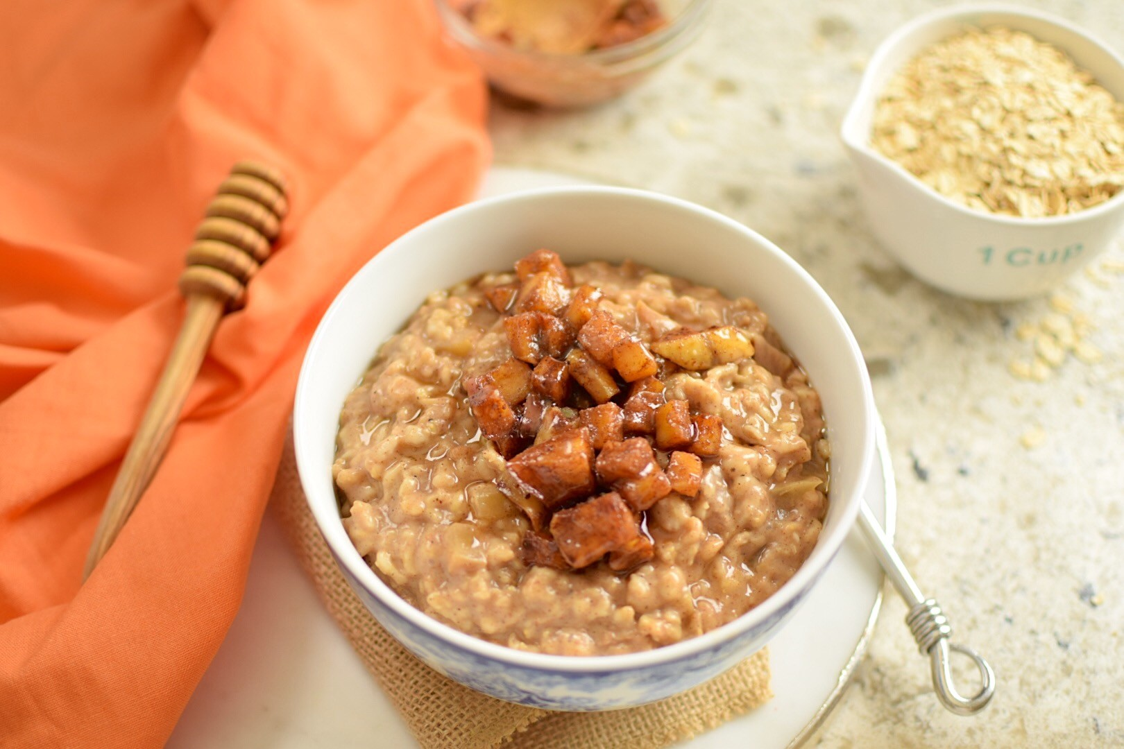 Caramelized Apple Rolled Oats – Gluten-Free