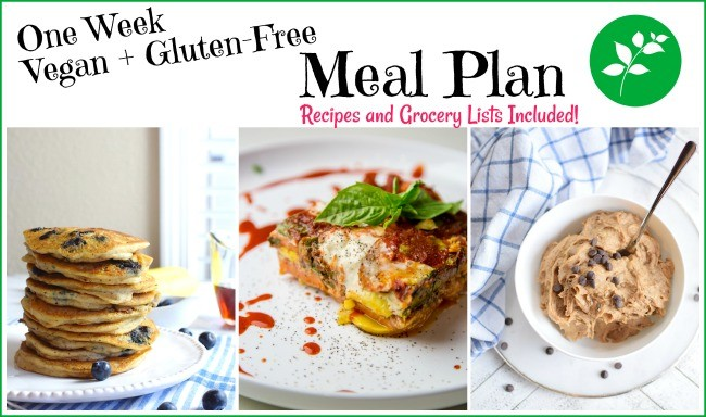 One week vegan and gluten free meal plan