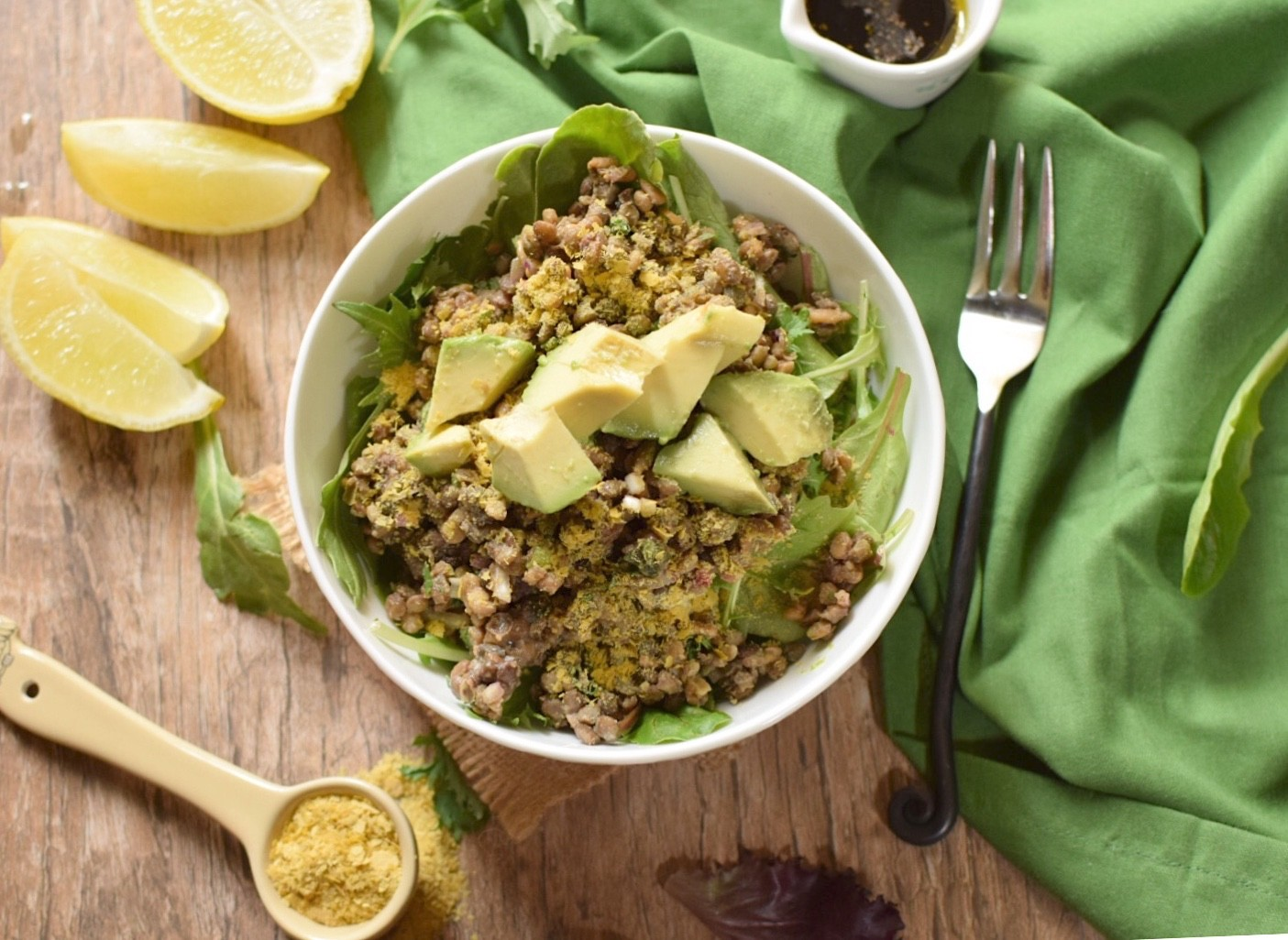 Healthy, Vegan Lentil Salad