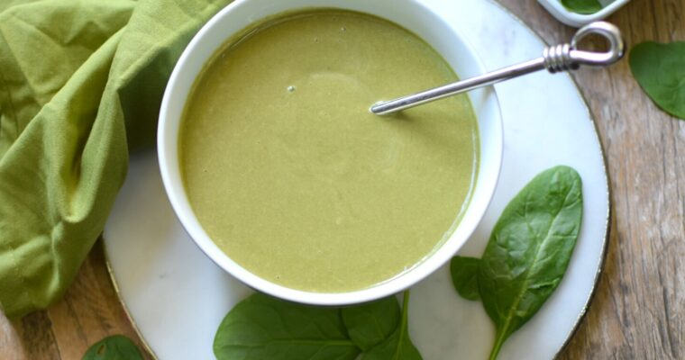Easy Vegan Spinach Soup